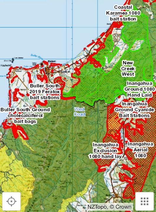 Westport area 1080 map