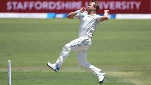 Perth Test Neil Wagner bowling