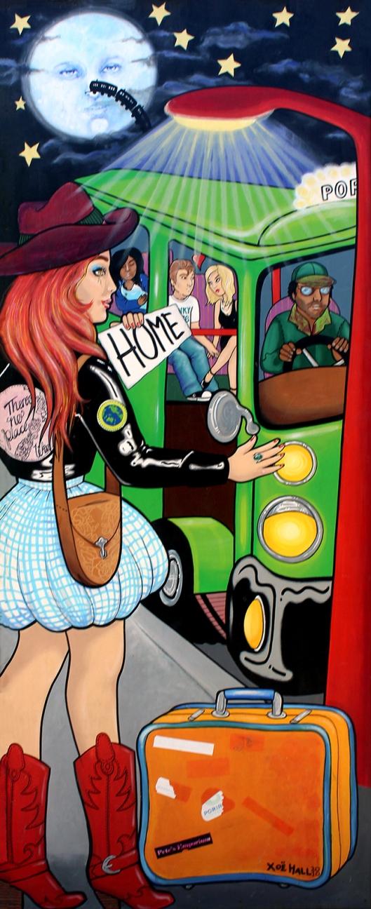 Porirua mural the bus home