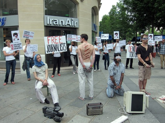protest against Iran