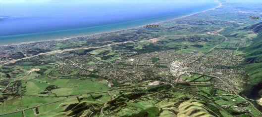 Waikanae aerial nord