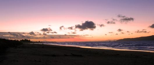 Waikanset plage crepescule