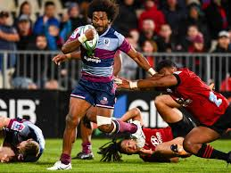 Reds v Crusaders - Reds Henry Speight on his way for a try