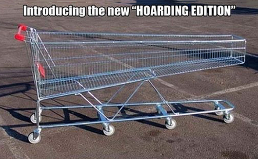 hoarding cart