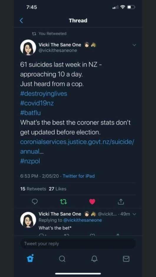 cv selbstmord