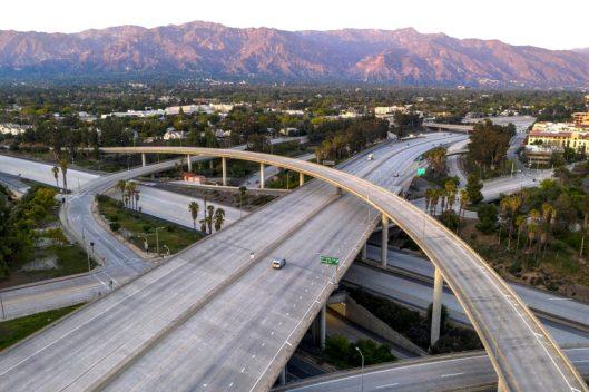LA freeway during lockdown
