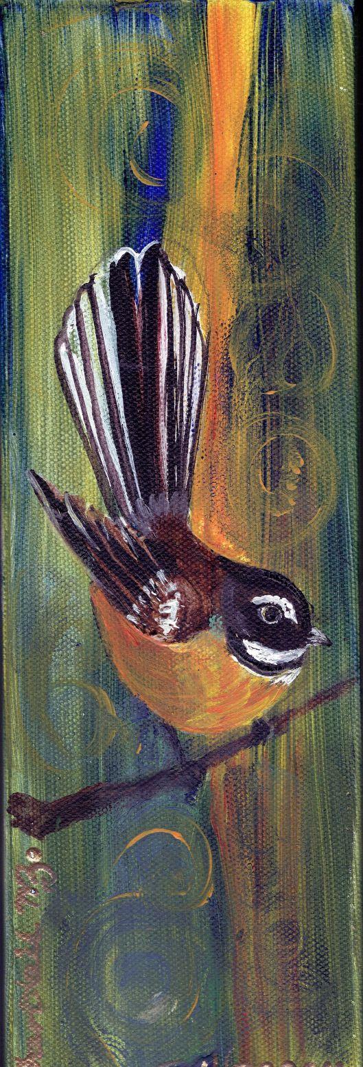 Piwakawaka painting