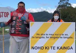 Maori roadblock