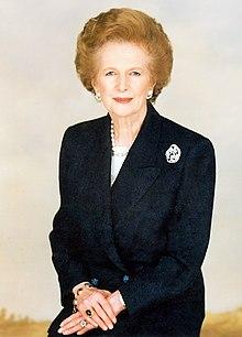 Margaret Thatcher portrait