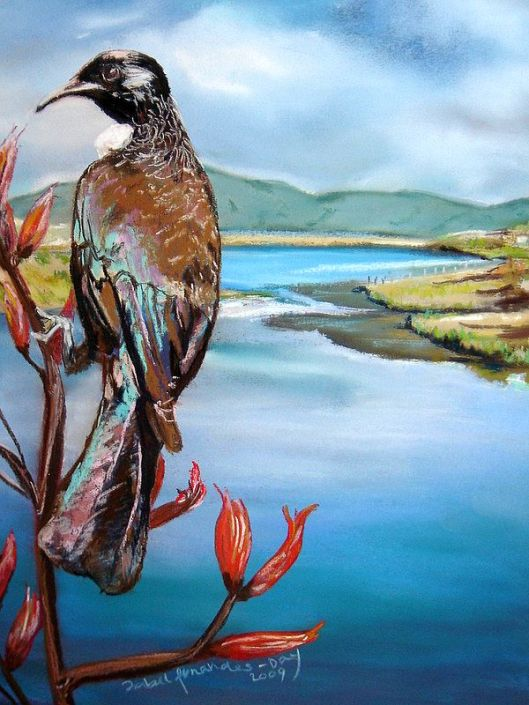 Waikanae Estuary art by Isabel Fernandes Day