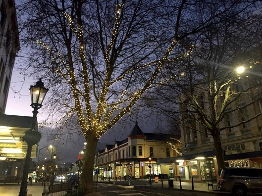 Whanganui mid-winter fairy lights