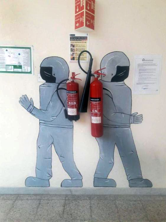 art fire extinguisher